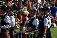 Massed Bands snare drummers Royalty Free Stock Photography