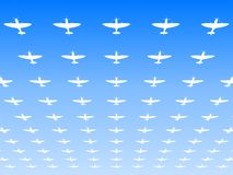 A massed formation of Spitfire fighters Royalty Free Stock Photo