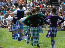 Massed Highland Dancers Royalty Free Stock Image