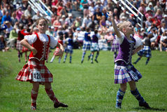 Massed Highland Dancers Stock Photography