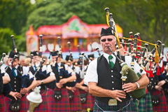 Massed Pipers at Tain Gala Stock Image