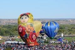 Massen an der internationalen Ballon-Fiesta Stockfoto