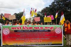 Massen-Satyagraha-Protest Stockfotos