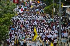 Massen-Satyagraha-Protest Stockbilder