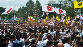 Massen-Satyagraha-Protest Lizenzfreies Stockfoto