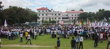 Massen-Satyagraha-Protest Stockfoto