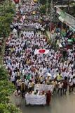 Massen-Satyagraha-Protest Lizenzfreie Stockfotos