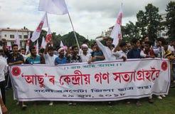 Massen-Satyagraha-Protest Lizenzfreies Stockbild