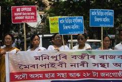 Massen-Satyagraha-Protest Stockbild