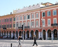 Massena Square Nice France. This is the main square in Nice France Stock Photography