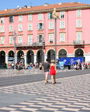 Massena square in Nice France. Shoppers at Massena square in Nice France on the French riviera Royalty Free Stock Image