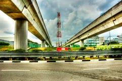Massentransportbrücken lizenzfreie stockfotos