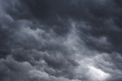 Masses of clouds. Shot of the dark rainy clouds - ominous clouds - weather Stock Photo