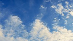 Masses Of Clouds Moving Over Afternoon Sky Timelapse stock video footage
