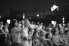Masses watch the taiwanese opera in the open air Royalty Free Stock Photos