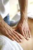 Masseur. Photographed during his job royalty free stock images