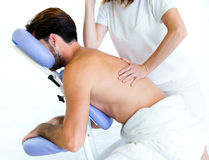 Masseur Doing Massage On Man Body In The Spa Salon. Royalty Free Stock Image