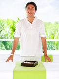 Masseur at a spa Stock Photo