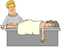 Masseuse royalty free illustration