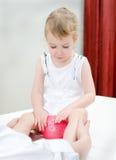 Masseuse doing massage Stock Photography