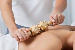 Masseuse Giving Back Massage Stockbilder