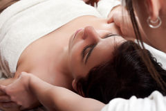 Masseuse and patient Royalty Free Stock Photography