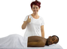 Masseuse Royalty Free Stock Photos