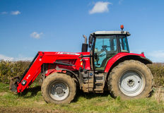 Massey Ferguson parked up in field Stock Photography