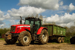 Massey Ferguson 5465 parked up Stock Image
