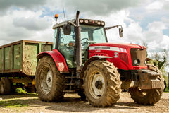 Massey Ferguson 5465 parked up Stock Photo