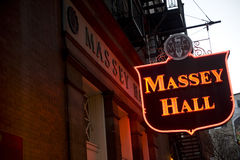 Massey Hall in Toronto Stock Image