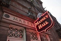 Massey Hall Toronto Stock Afbeelding