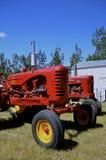Massey Harris and Formal M tractors. WATFORD CITY, NORTH DAKOTA, June 23, 2016:  Vintage Massey Harris and Formal M tractors are displayed at the Watford City Royalty Free Stock Image