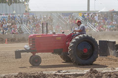 Massey Harris Tractor pulling Royalty Free Stock Photo