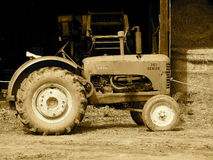 Massey Harris Tractor In Sepia Tone Stock Image