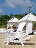Massez les huttes sur l'île Nicaragua de maïs de plage Images stock