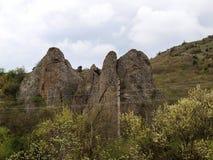 Massi bizzarri nelle montagne della Crimea Fotografia Stock Libera da Diritti