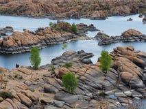 Massi del granito di Watson Lake fotografia stock