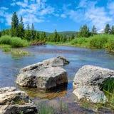 Massi di fiume immagini stock