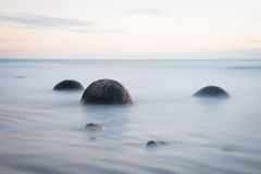 Massi di Moeraki, Nuova Zelanda fotografia stock
