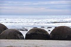 Massi di Moeraki, NZ fotografia stock