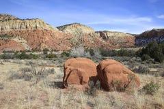 Massi e montagne New Mexico immagine stock