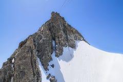 Massiccio in alpi, Courmayeur, la valle d'Aosta, Italia di Monte Bianco Fotografia Stock
