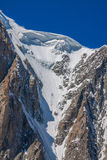 Massiccio de il Monte Bianco sul confine della Francia e dell'Italia Nella f Fotografia Stock