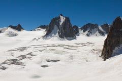 Massiccio de il Monte Bianco sul confine della Francia e dell'Italia Nella f Immagini Stock