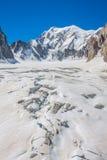 Massiccio de il Monte Bianco sul confine della Francia e dell'Italia Nella f Immagini Stock Libere da Diritti