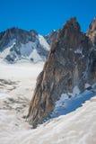 Massiccio de il Monte Bianco sul confine della Francia e dell'Italia Nella f Fotografie Stock Libere da Diritti