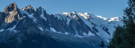 Massiccio del Monte Bianco, Chamonix-Mont-Blanc, Savoia haute, Francia Fotografia Stock Libera da Diritti