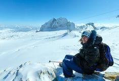 Massiccio della montagna di Dachstein di inverno Fotografia Stock Libera da Diritti