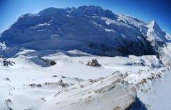 Massiccio della montagna di Monte Rosa Immagini Stock